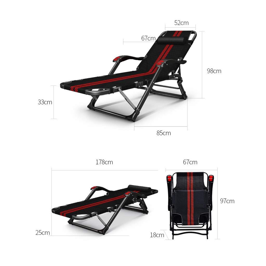 Sillón reclinable Plegable Nap Cama Multifuncional Silla ...