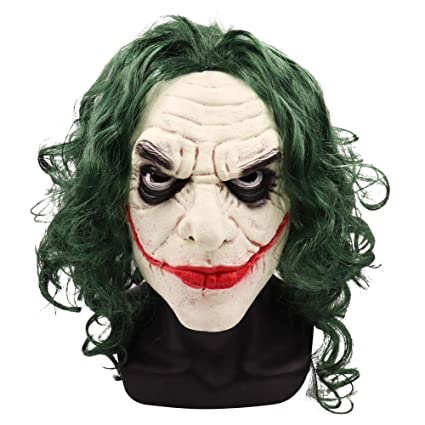 Hat Party Costume Cosplay Halloween Funny Spoof Mask Head Gear Latex Joker