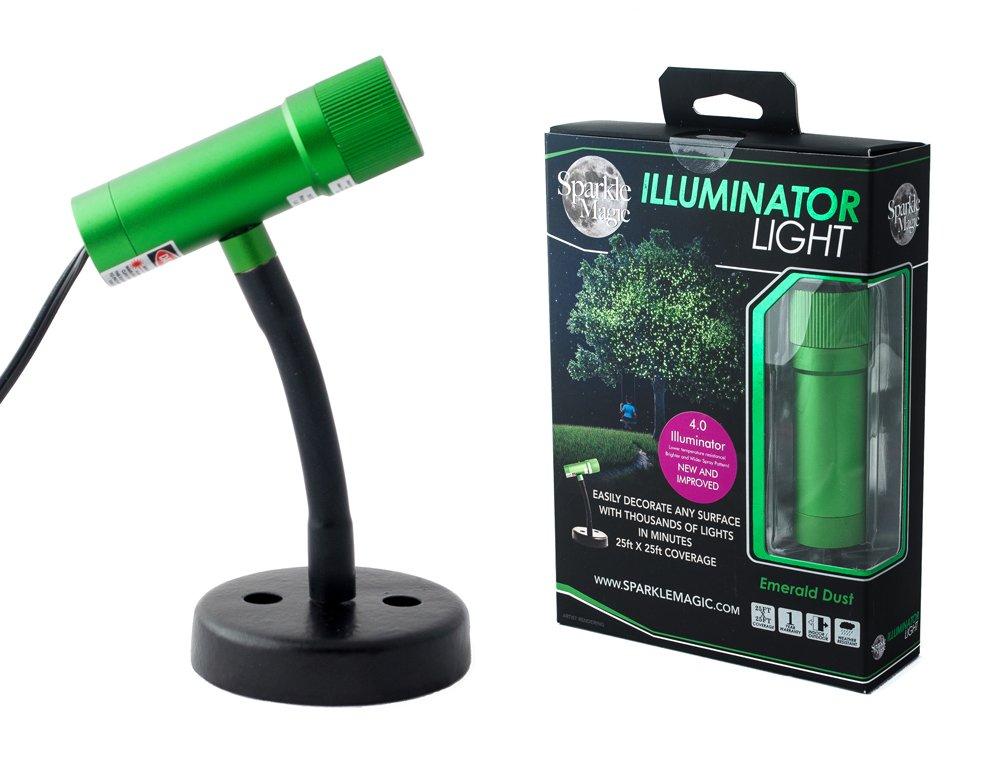 Sparkle Magic Emerald Dust (Green) Illuminator Laser Light 4.0 Series (GLI4), Landscape Laser Lights, Christmas Laser Lights