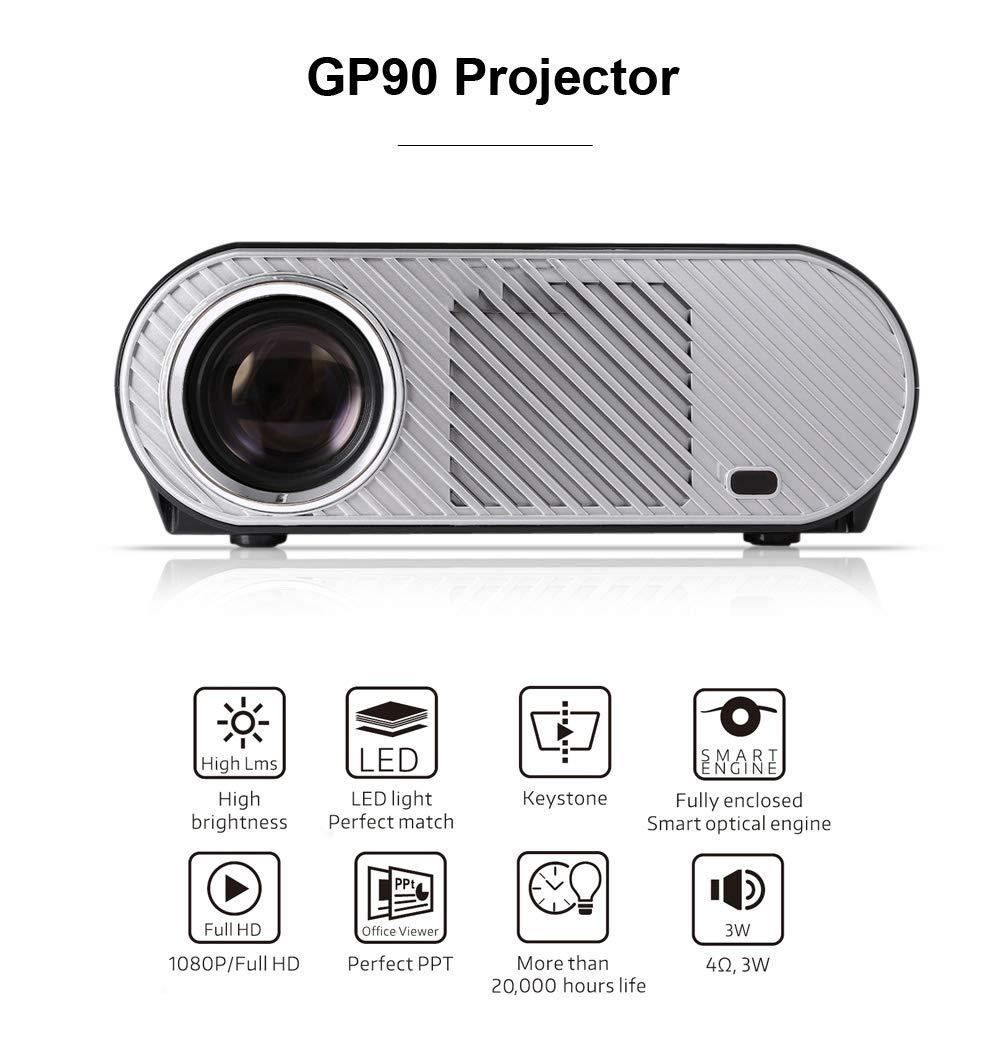 ALWAYZZ GP90 1080P LCD LED Proyector 3200 lúmenes Proyector de ...