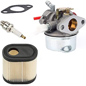 mycheng 640350 Carburetor with Air Filter Spark Plug & Gasket for 20016 20017 20018 6 6.25 6.5 6.75 HP Engines,Tecumseh LEV100 LEV105 LEV120 LV195EA LV195XA 640303 640271 Carb Toro Recycler Lawnmower