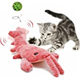 """Fish Cat Toy, 11"""" Realistic Plush Interactive Dog/Cat Toy, Wiggle Lobster Fish Catnip Toy, Flopping Fish for Dogs and Cats Bi"""