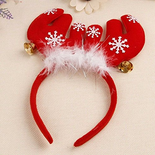 ANGELS--Christmas Tree Reindeer Antlers Headband Santa Xmas Hair Band Head Hoop Headwear (antlers)