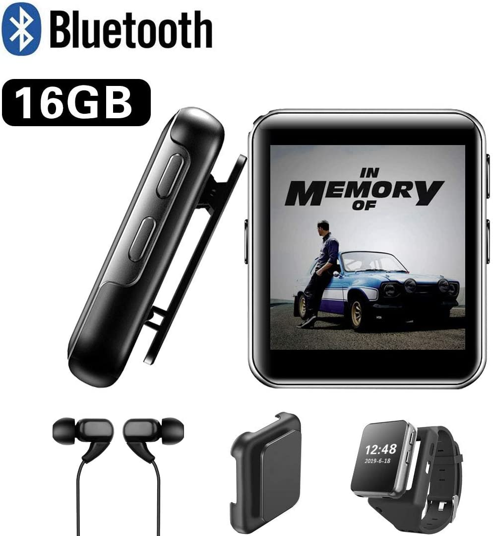 DONEST MP3 Player with Bluetooth, Sports Watch MP3 Player with Touch Screen