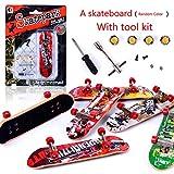 AumoToo Finger Skateboard, Professional Mini Fingerboard Skatepark Toy Games Kids (Color Random)