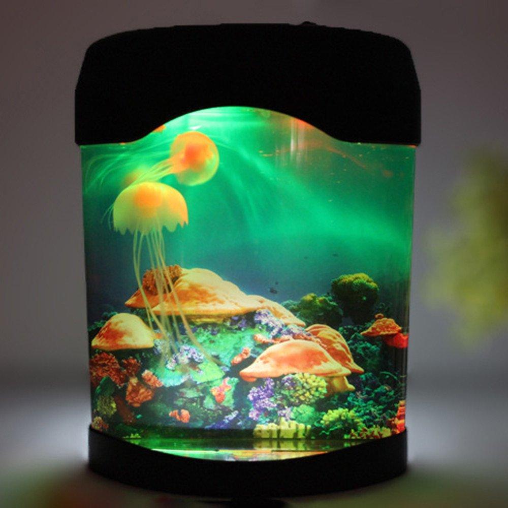 amazon com calover ocean decor electric jellyfish tank aquarium