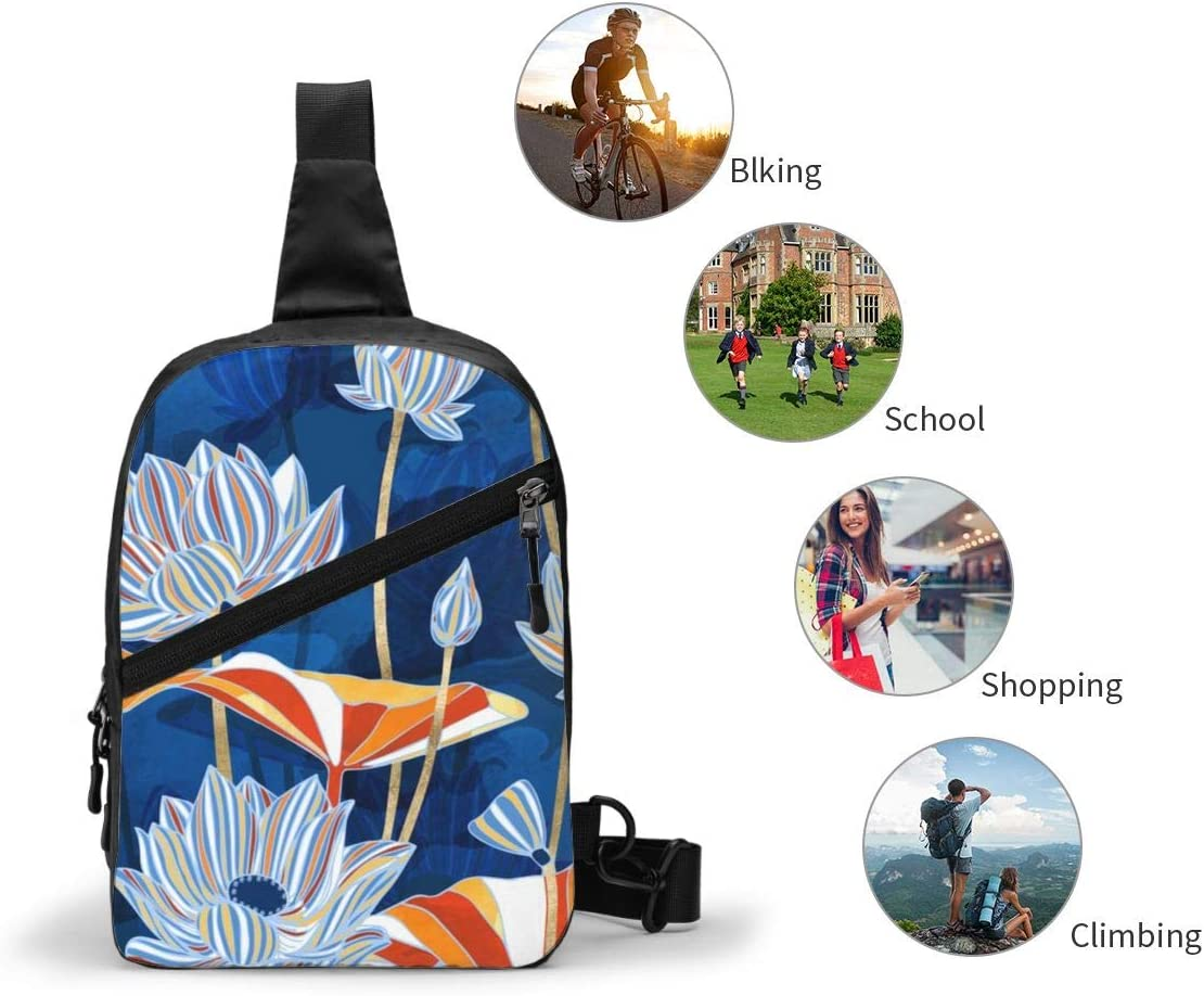 Bold Botanical Chest/Sling/Bag/Crossbody/Backpack/Shoulder/Casual/Daypack/Rucksack/for/Men/Women/Outdoor/Cycling/Hiking/Travel