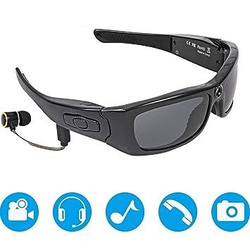 WMYY Lentes De Camara 1080P HD Luz Polarizada Diseño Desmontable Gafas Deportivas Multifuncionales Música Bluetooth Puede