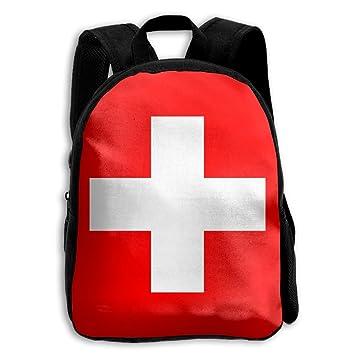 Bandera de Suiza Unisex Full 3D Impreso Escuela Hombro Bolsa Mochilas para Niños: Amazon.es: Hogar