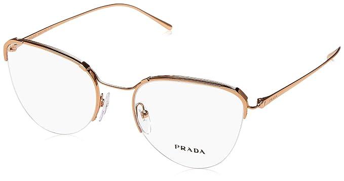 54bbdf9e48e8 Eyeglasses Prada PR 60 UV SVF1O1 PINK GOLD  Amazon.co.uk  Clothing