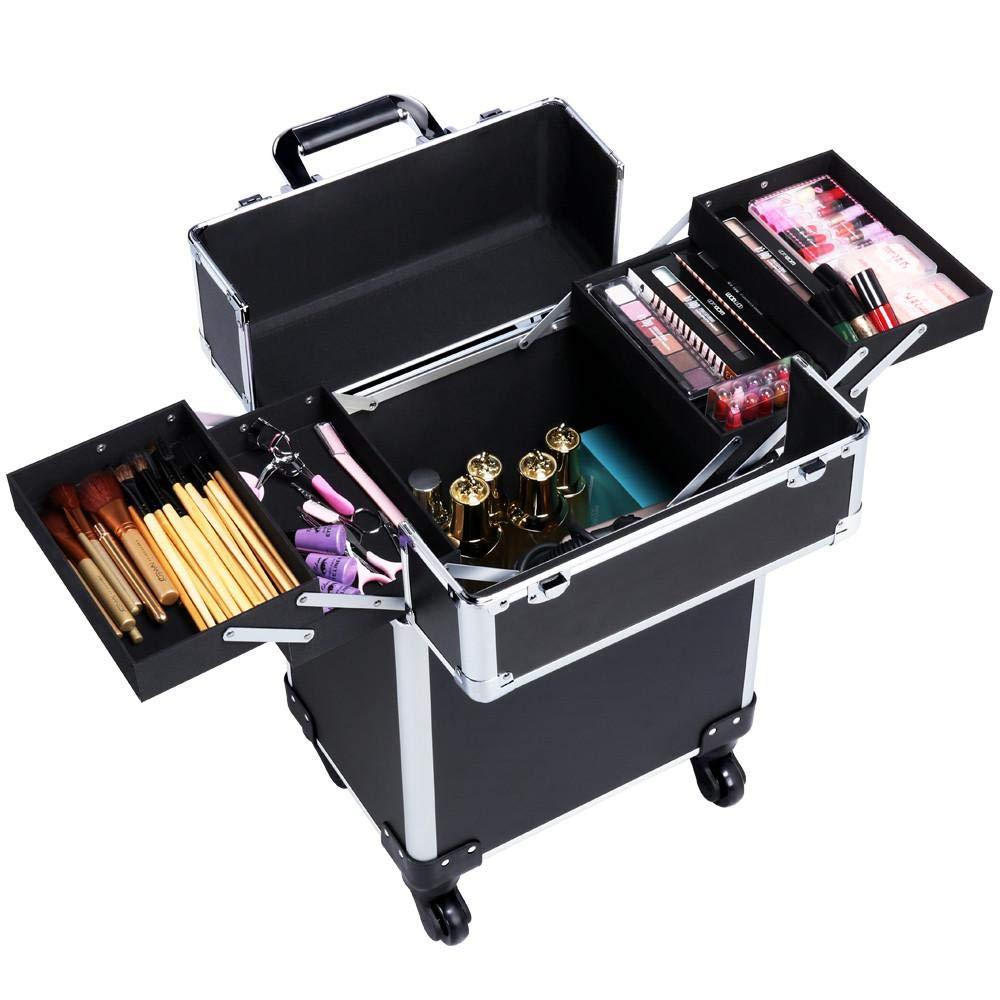 Yaheetech Maleta de Maquillaje Estuche Cosmeticos Maletín Profesional Trolley Organizador …