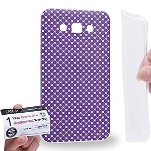 Case88 [Samsung Galaxy E7] Gel TPU Carcasa/Funda & Tarjeta de garantía - Art Fashion Lavender Halftones Fashionista Art1615