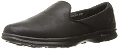 Skechers Performance Women's Go Step Untouched Walking Shoe,Black  Leather,5.5 M US