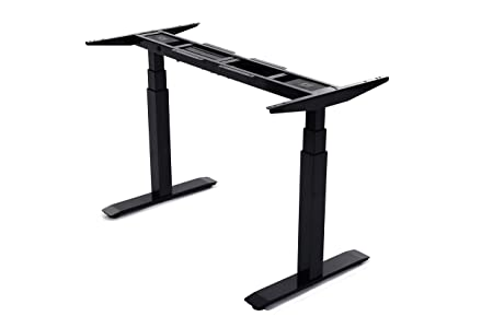 ApexDesk FX-DYH14B-BLACK Flex Series Electric Height Adjustable Desk Base, Memory Controller, Frame Only – Black