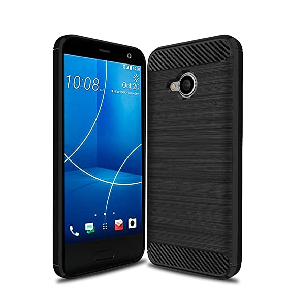 online retailer cfc0a 90c6d HTC U11 Life Case,Mustaner Shock-Absorption Flexible TPU Rubber Soft  Silicone Full-body Protective Cover for HTC U11 Life (Black)