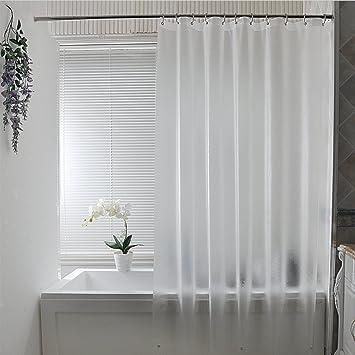 Amazoncom Eforcurtain Subtle Semi Transparent Shower Curtain 18