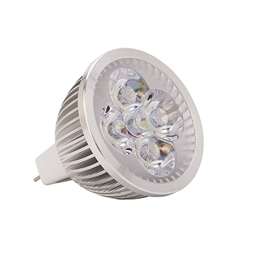 WELSUN MR16 LED Light Bulbs, AC/DC 24V 36V 4W, 350-400lm, 60° Beam Angle, 30W Halogen Equivalent [Energy Class A+] 5Pcs (Color : Warm white, ...