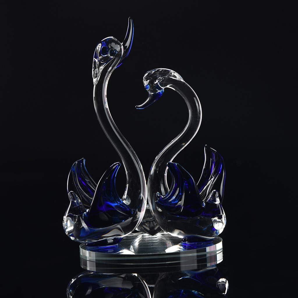 Twocc-Kristall Schwan Hochzeit Dekor Briefbeschwerer Figur Geschenk Handwerk Home Decor Braun