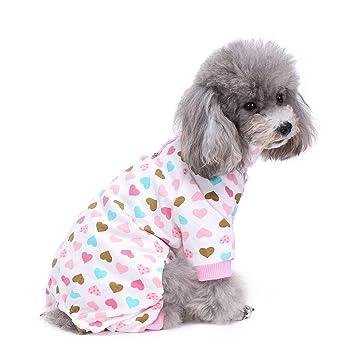 S-Lifeeling - Disfraz de perro con cuello de tortuga y patrón de amor,