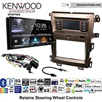 Volunteer Audio Kenwood DDX9704S Double Din Radio Install Kit with Apple Carplay Android Auto Fits 2011-2014 Edge (Bronze)