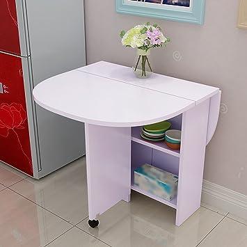 Dongy Klapptisch Stehtisch Küche Esstisch Skalierbare Rundtisch Schrank  Kombination Lack Computer Schreibtisch Bewegliche Faltbare Tisch