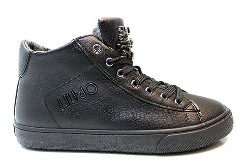 176cfacb3629b Liu Jo Girl UM23264 Nero Sneakers Polacchine Scarpe Bambina Donna Calzature   Amazon.it  Scarpe e borse