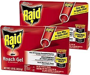 SC Johnson Raid Roach Gel, Defense System to Control Bugs, 1.5 OZ (Pack of 2)