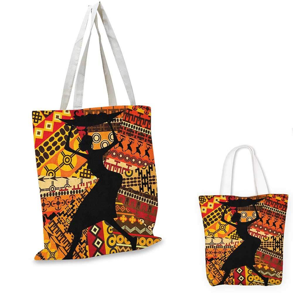 African WomanHand ドローン エスニック イラスト プロファイル ポートレート トライバル オーナメント フォークアート マルチカラー 12