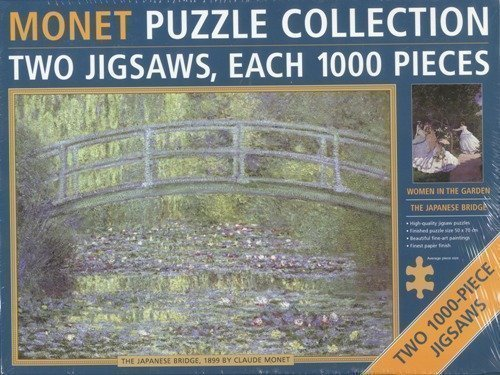 Monet Puzzle Collection Two Jigsaws Each 1000 Pieces - The Japanese Bridge & Women in the Garden by Claude Monet by Anness Publishing Ltd from Anness Publishing