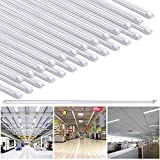 Yescom 4Ft T8 LED Tube 6500K Fluorescent Tube Retrofit Replacement, Clear Cover Dual-Ended, 18W T8 LED Bulbs, 25 Pack