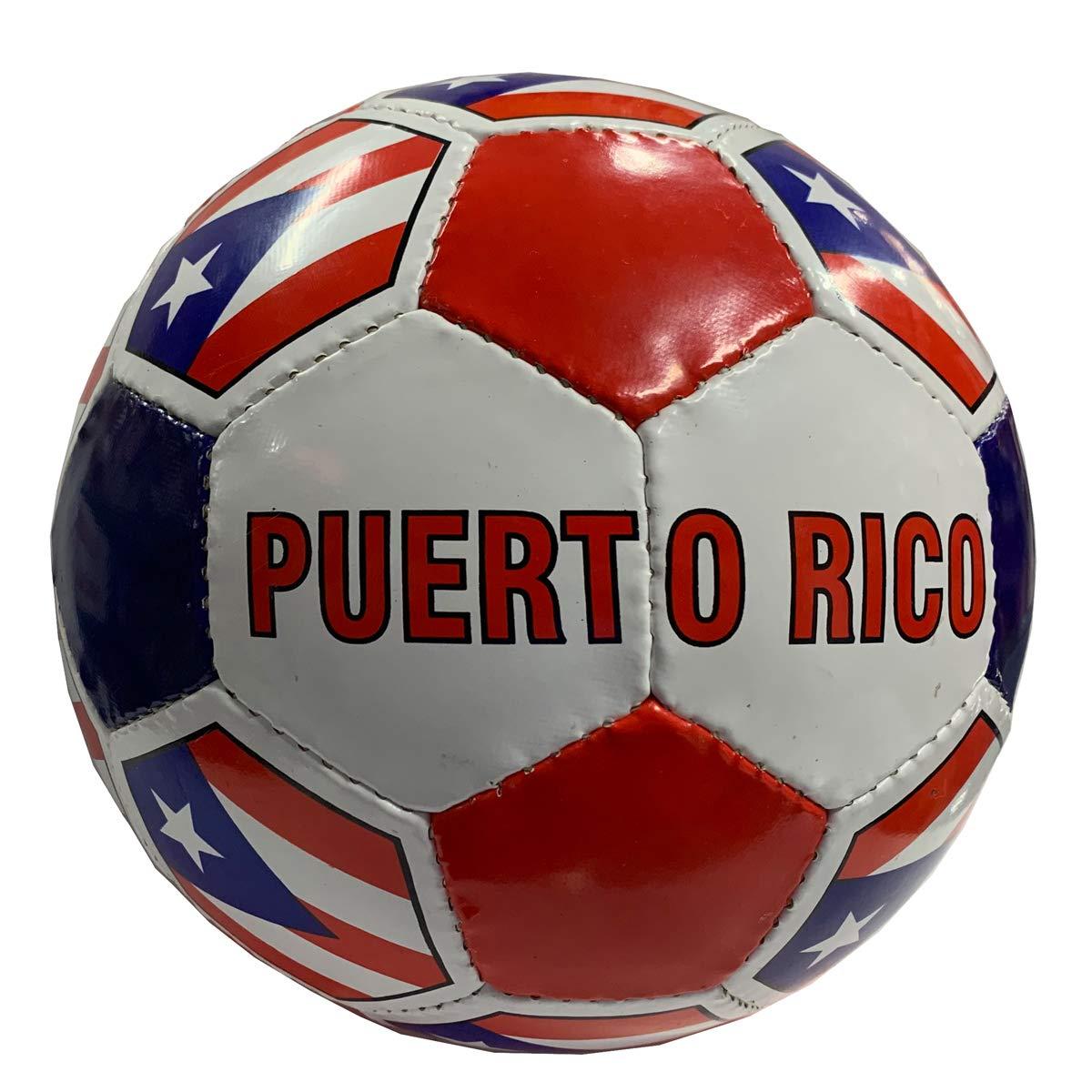 Balón de fútbol bandera de Puerto Rico: Amazon.es: Deportes y aire ...
