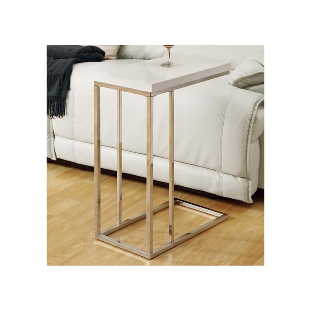 Amazon monarch specialties i 3008 accent table chrome metal amazon monarch specialties i 3008 accent table chrome metal glossy white kitchen dining geotapseo Image collections