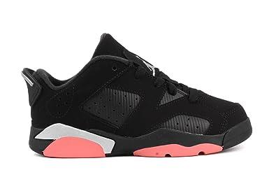 840b4f1286de28 Nike Air Jordan 6 Retro Low GP Little Kid s Basketball Shoes  Black Sunblush
