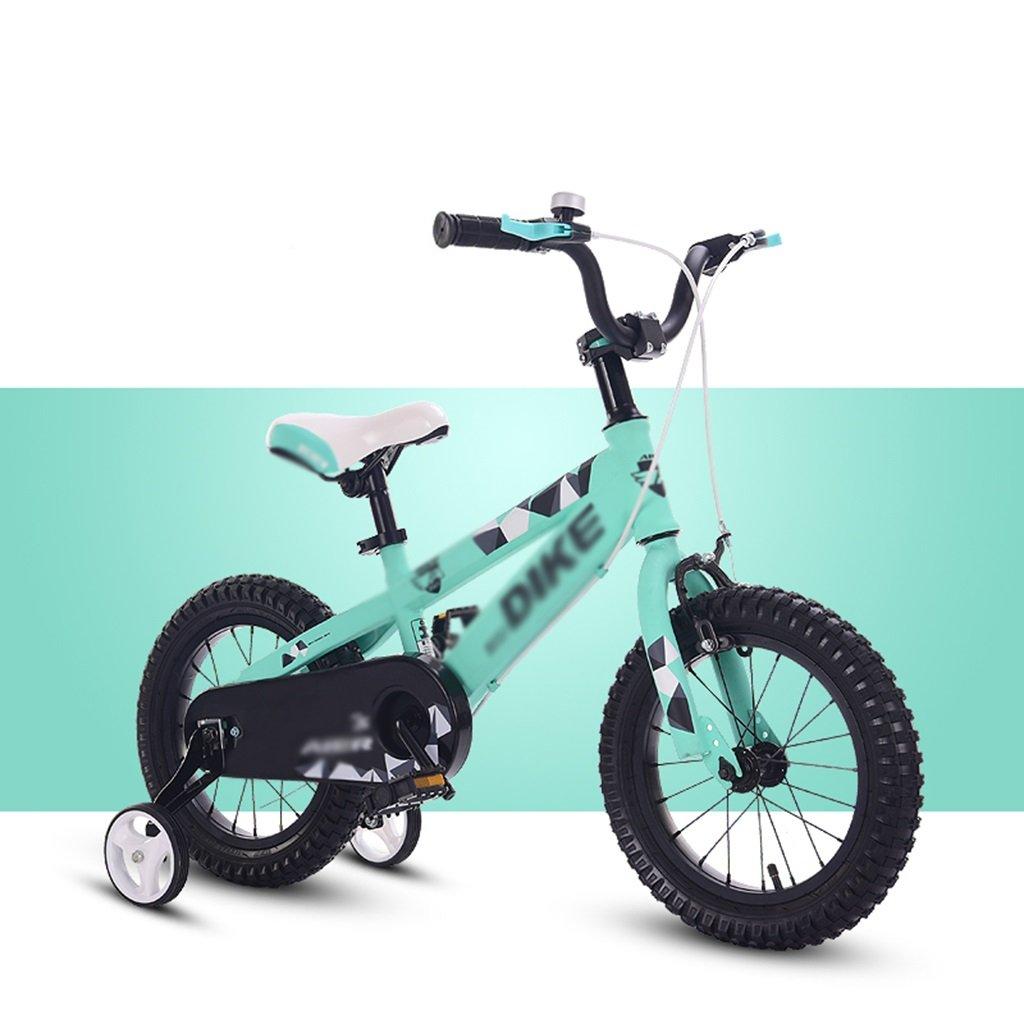 Hay más marcas de productos de alta calidad. Bicicleta DWW niños Pedal montaña equitación al aire libre libre libre antideslizante asiento ajustable exclusivo para niños (Color : Verde, Tamaño : 14inch)  servicio honesto