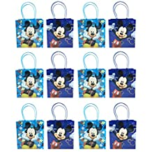 Disney Mickey Mouse Party Favor Goodie Small Gift Bags 12