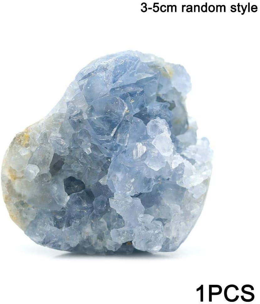 Cristal Naturel Cluster Brut Bleu Célestite Quartz Minéral Geode Feng Shui Spécimen Décoration de La Maison Irrégulier Pierre Guérison Reiki