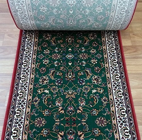 789439 - Rug Depot Palazzo Forest Green Kashan Traditional Hall and Stair Runner - 31