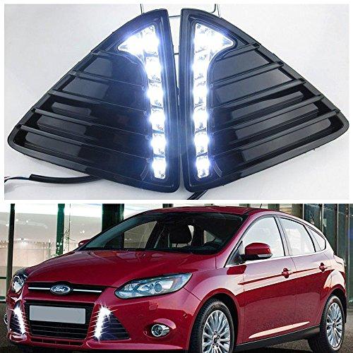 GZYF 2x LED Daytime Running Light For Ford Focus 2011 2012 2013 2014 White
