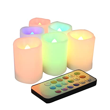 Amazoncom Candle Choice Set Of 6 Color Changing Flameless Votive