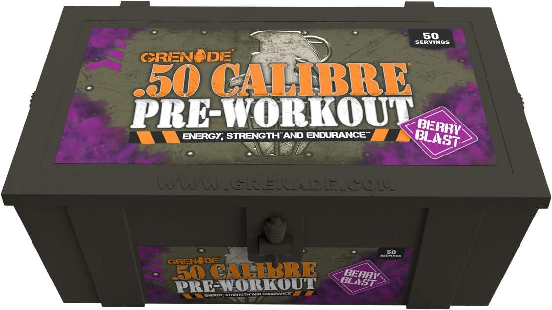 Grenade 50 Calibre Berry Blast Pre Workout 580g: Health & Personal Care