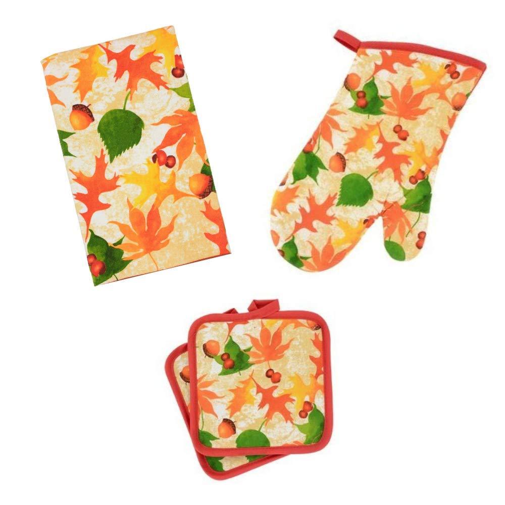 Home Collection Autumn-Themed 4-Piece Kitchen Linen Set