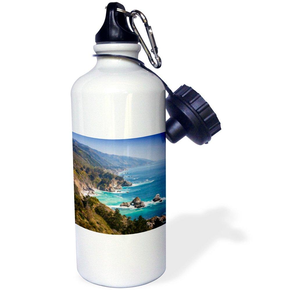 -Sports Water Bottle wb/_189395/_1 21oz California Coast Multicolored Big Sur Region 3dRose USA