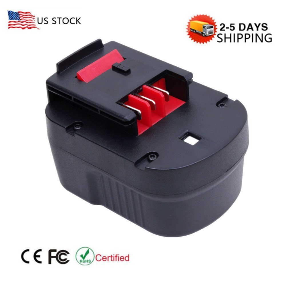 Vanon 2000 mAh 12 Vニッカド電池充電式交換用バッテリーfor Black & Decker hpb12 a1712 fs120b fsb12 a12 a12-xj a12ex 1 Pack ブラック Black & Decker HPB12  1 Pack B0723DD3Q3