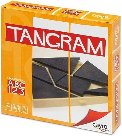 Cayro - Tangram en Caja de plástico - Juego de razonamiento y Creatividad - Juego de Mesa - Desarrollo de Habilidades cognitivas e inteligencias múltiples - Juego de Mesa (123): Amazon.es: Oficina y papelería