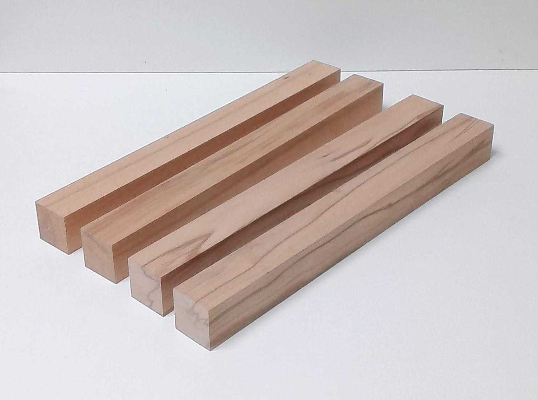 /… Sonderma/ße Ma/ße : 48x48x850mm lang 4 Kanth/ölzer Tischf/ü/ße Drechselholz Bastellholz Kernbuche massiv