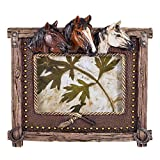 Triple Horse Head 4x6 Easel Back Picture Frame