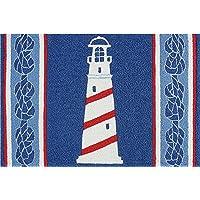 Nautical Coastal Ships Lighthouse Washable 21 X 33 Area Accent Jellybean Rug