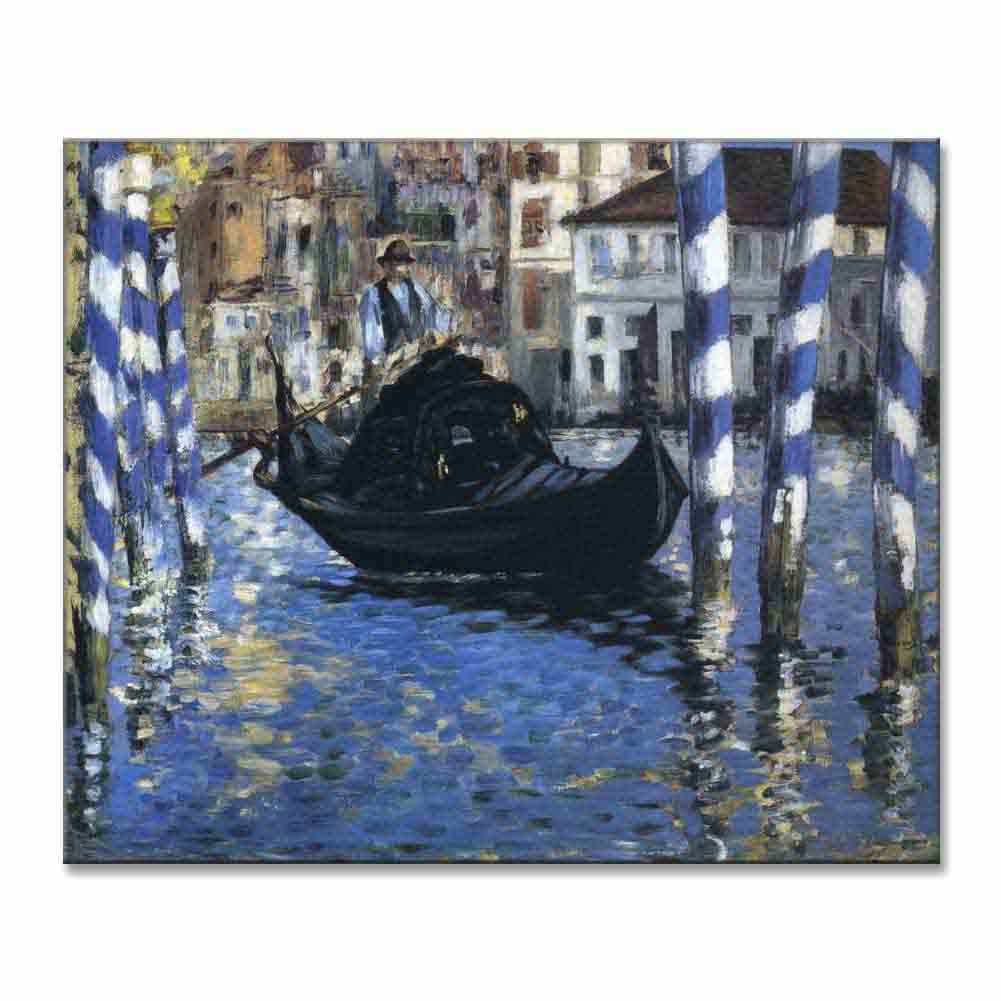 Edouard Manet The Grand Canal Of Venice (Blue Venice) 1875 Original Riverscapes Canvas Paintings Hand Painted Reproduction Unframed Tablet - 48X40 inch (122X102 cm) for Living Room Wall Decor To DIY
