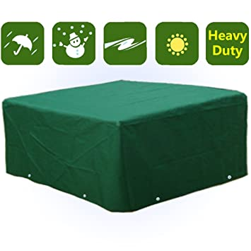 Waterproof Heavy Duty Rectangular Furniture Cover Patio Garden Table Chairs  Protection WS08T Part 74