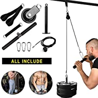 BOBLOV 9Pcs Fitness DIY Pulley Cable Machine System Arm Biceps Triceps Blaster Hand Strength Trainning Home Gym Workout…